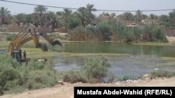 نهر الفرات عند اطراف الهندية في محافظة كربلاء
