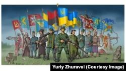 """""""Украинские солдаты"""". Автор - Юрий Журавель"""