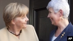 Ангела Меркель и премьер-министр Хорватии Ядранка Косор