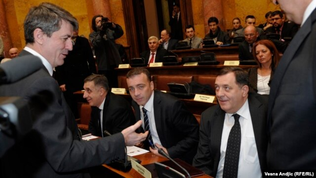 Milorad Dodik u Skupštini Srbije, 14. februar 2014.