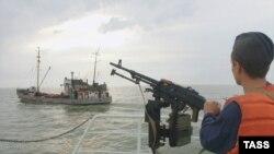 Каспий теңізіндегі Ресейдің жағалау күзеті. Көрнекі сурет.