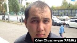 Елмурод (Елмұрат) Сафаров, өзбекстандық еңбек мигранты. Астана, 20 қыркүйек 2016 жыл