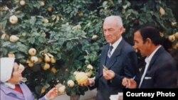 Махмуд Мирзаев (на фото – в центре), имя которого НИИ носит с августа 2013 года, возглавлял институт более полувека — с 1949 по 2000 год. Он был опытным агрономом и умелым организатором производства. При нем в НИИ выведены многие сорта плодовых деревьев и винограда, созданы новые марки вин, получивших признание за рубежом. Фото из Интернета.