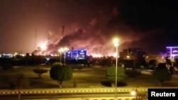 """Пожар на заводе """"Сауди Арамко"""""""