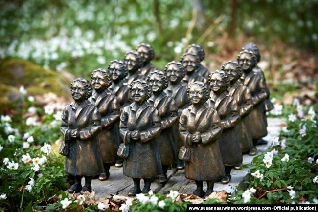 «Маленькая армия шведских тетушек», бронза 2013, Сусанна Арвин