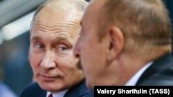 Владимир Путин и Ильхам Алиев (архивная фотография)