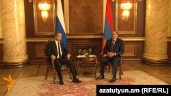 Հովիկ Աբրահամյան և Դմիտրի Մեդվեդև, Երևան, 7-ը ապրիլի, 2016թ․