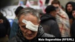 Акция протеста перед зданием парламента Грузии