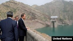 На Нурекской ГЭС побывал и генсек ООН Пан Ги Мун