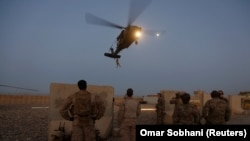 FILE: U.S. troops take part in an exercise in Helmand province in July.
