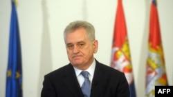 Tomislav Nikolić u obraćanju novinarima, 16. januar 2013.