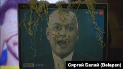 Акция против российской телепропаганды в Минске, 31 октября 2016 года