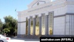 Здание МВД Туркменистана. Июль 2021 года