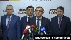 Andrei Năstase, conferință de la presă la Chișinău, 5 noiembrie 2019