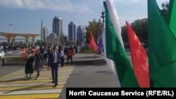 Грозный накануне празднования дня рождения Кадырова