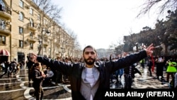 Protestors took to the streets of Baku, Azerbaijan March 10, and RFE/RL was in the thick of the demonstration to get the story.