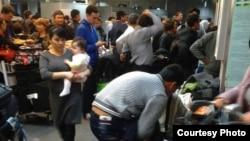 Таможенный контроль в аэропорту Ташкента.