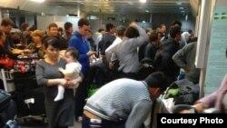 Таможенный контроль в Ташкентском международном аэропорту.
