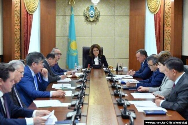 Спикер сената Дарига Назарбаева в верхней палате парламента. 26 марта 2019 года.