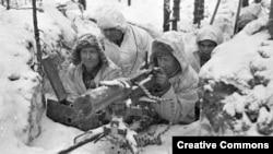 Архівне фото. Фінські військові під час радянсько-фінської війни, 1939-1940 роки