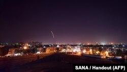 Изображение от сирийского агентства SANA к сюжету о ракетных атаках Израиля, совершенных 15 сентября 2018 года.