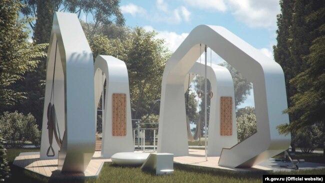 Конструкции, которые должны появиться в Пионерском парке, по задумке авторов проекта