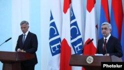 Армения - Совместная пресс-конференция президентов Швейцарии и Армении, Ереван, 4 июня 2014 г.
