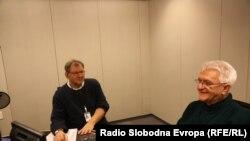 Pašalić i Karabeg tokom razgovora u studiju RSE