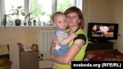 Ірына Бойка з малодшым сынам Кірылам