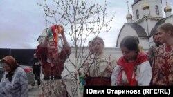 Участники фестиваля старожильческих народов в Красноярске