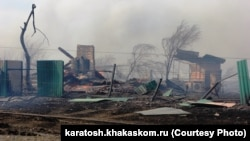 Наслідки пожежі у Новокурську, Хакасія