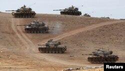 Թուրքական բանակի տանկերը Սիրիայի հետ սահմանին, արխիվ