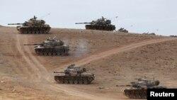 Tурецкие танки на севере Сирии