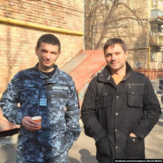 Юрий Федаш (слева) и Роман Семисал. Фото со страницы в Facebook Тимура Ященко