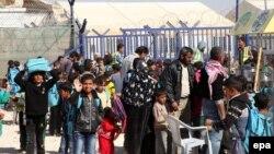 آوارگان سوری در مرز اردن