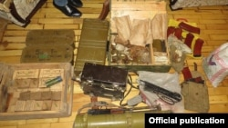 Armenia - A photograph of what the National Security Service called an ammunition cache found in a Yerevan apartment, 5Aug2016