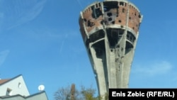 Vodotoranj, jedan od simbola tragedije grada