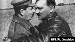 Иосиф Сталин и Адольф Гитлер, коллаж