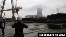 На будоўлі Беларускай АЭС пад Астраўцом