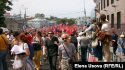 Müxalifətin etiraz aksiyası. Moskva 12 iyun 2012
