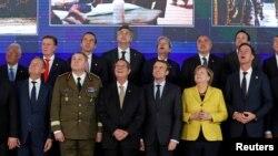 Lideri ai Uniunii Europene la lansarea Cooperării Structurate Permanente, PESCO, Bruxelles, 14 decembrie 2017.