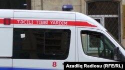 Bakı , məhkəmə qarşısında təcili tibbi yardım maşını 26 Avqust, 2015