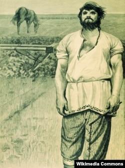 """Картина Андрея Рябушкина """"Микула Селянинович"""", 1895"""
