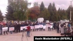 Участники акции в Тонском районе.