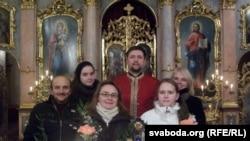 Удзельнікі першага беларускага акафісту ў Вене, айцец Андрусь Абламейка