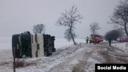 Авария автобуса с детьми из Беларуси в северной Чехии, фото Dnes