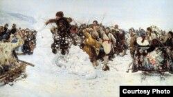 Василий Суриков, «Взятие снежного городка», 1891
