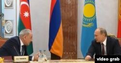 Președinții Nicolae Timofti și Vladimir Putin, la reuniunea CSI de la Minsk, 10 octombrie 2014
