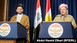 اربيل: الحكيم وبارزاني ـ آذار 2012