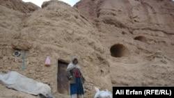 Обитательница пещеры близ города Бамиан.